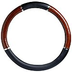 image of Halfords Steering Wheel Cover - Wood Effect