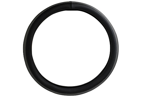 Halfords Steering Wheel Cover - Black/Grey