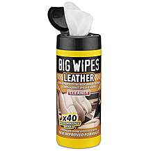 image of Big Wipes Car Leather Wipes x 40