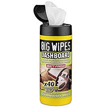 image of Big Wipes Car Interior Protectant Wipes x 40