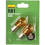Halfords (581HD) 21W Heavy Duty Car Bulbs x 2