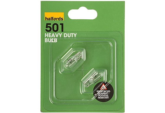 Halfords (501HD) 5W Heavy Duty Car Bulbs x 2