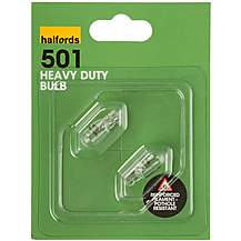 image of Halfords 501 W5W Heavy Duty Car Bulbs x 2