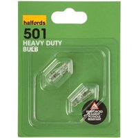 Halfords (501HD) 5W Heavy Duty Car Bulbs x 2
