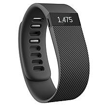 image of Fitbit Charge Wireless Activity Plus Sleep Wristband - Black - Large