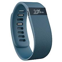 image of Fitbit Charge Wireless Activity Plus Sleep Wristband - Slate - Small