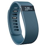 image of Fitbit Charge Wireless Activity Plus Sleep Wristband - Slate - Large