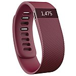 image of Fitbit Charge Wireless Activity Plus Sleep Wristband - Burgundy - Small
