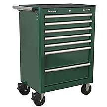image of Sealey Rollcab 7 Drawer - Green