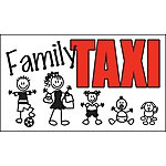image of Storm Graphics Family Taxi Bumper Sticker