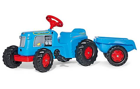 image of Rolly Kiddy Classic Tractor & Trailer Pedal Ride On