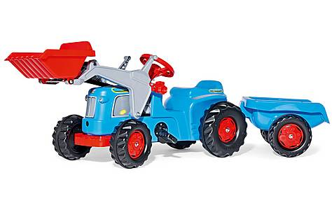 image of Rolly Kiddy Classic Tractor With Trailer & Frontloader Pedal Ride On