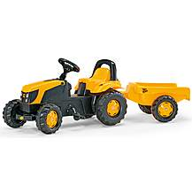 image of Rolly Kid JCB Tractor & Trailer Pedal Ride On