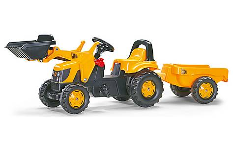 image of Rolly Kid JCB Tractor With Frontloader & Trailer Pedal Ride On