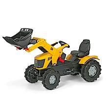 image of Robbie Toys JCB 8250 V-Tronic Tractor With Frontloader Pedal Ride On