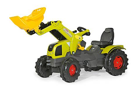 image of Robbie Toys Claas Axos 340 Tractor With Frontloader Pedal Ride On