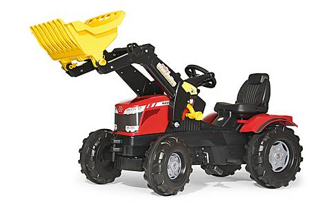 image of Robbie Toys Massey Ferguson 8650 Tractor With Frontloader Pedal Ride On