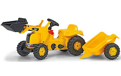 image of Rolly Kid Caterpillar Tractor & Trailer Pedal Ride On