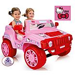 Injusa 12V Hello Kitty Two Seater Electric Ride On Jeep