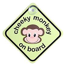 image of Cheeky Monkey On Board Sign