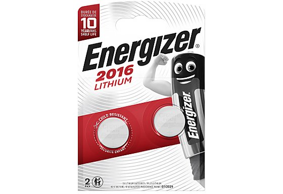Energizer 2016 Batteries x2