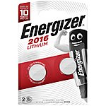 image of Energizer 2016 Batteries x2
