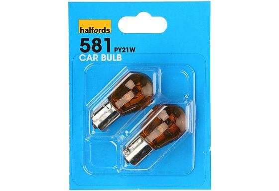 Halfords (HBU581) 21W Car Bulbs x 2