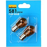 image of Halfords 581 PY21W Car Bulbs x 2