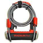 image of Magnum Plus MagSolid Shackle Lock, 90 x 140 x 14mm with Cable