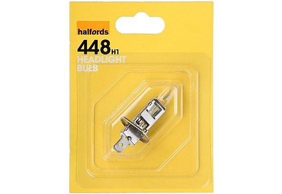 Halfords (HBU448) 55W H1 Car Bulb x 1