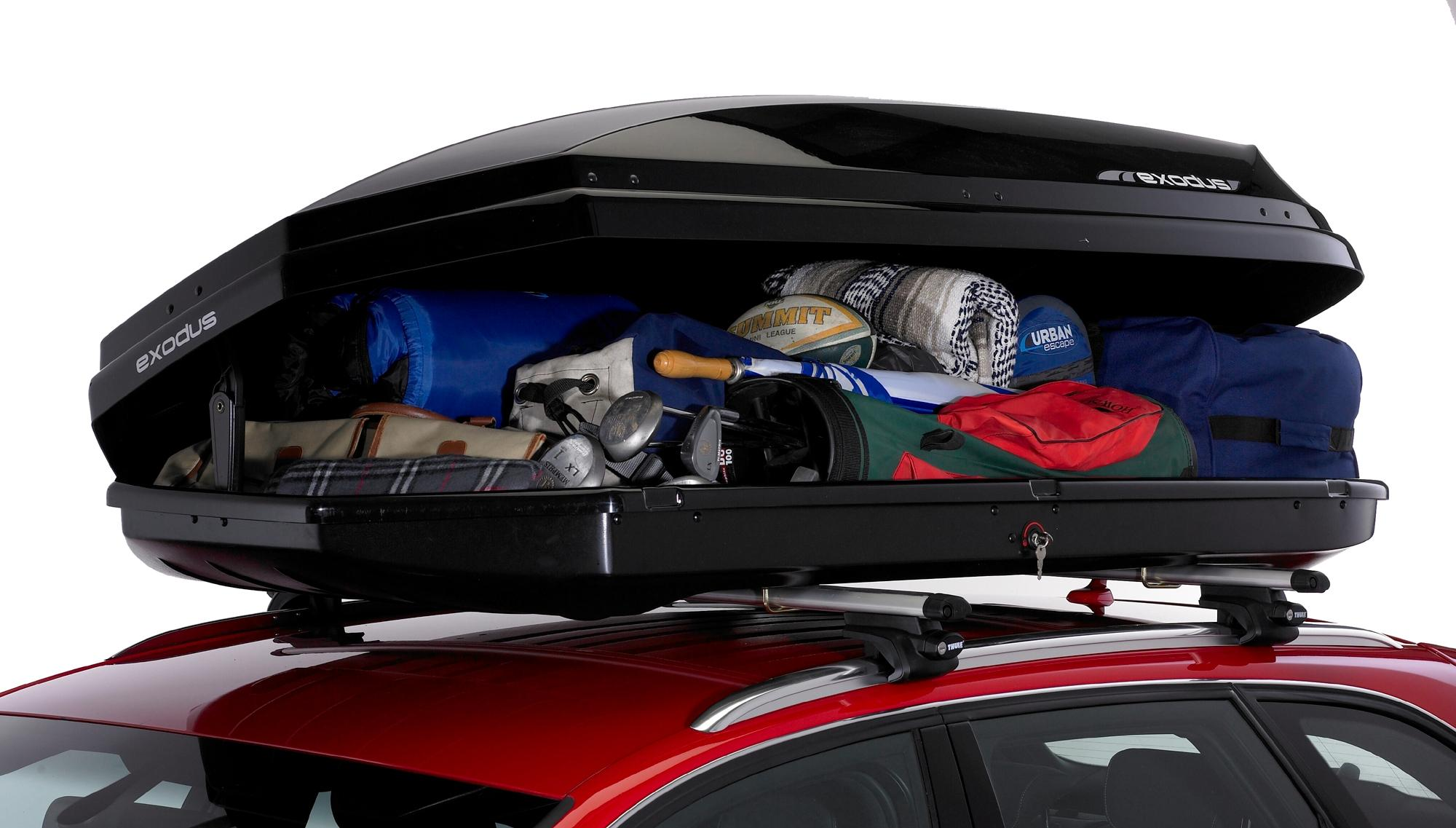 roof box thule go pack roof bags inside a thule roof box. Black Bedroom Furniture Sets. Home Design Ideas