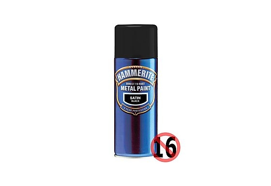 Hammerite Satin Finish Black 400ml