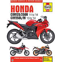 image of Haynes Honda CBR125R, CBR250R & CRF250L/M (2011 - 2014) Motorcycle Manual