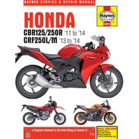 Haynes Honda CBR125R, CBR250R & CRF250L/M (2011 - 2014) Motorcycle Manual