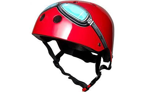 image of Kiddimoto Red Goggle Helmet Small