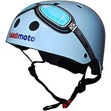 image of Kiddimoto Blue Goggle Helmet Small