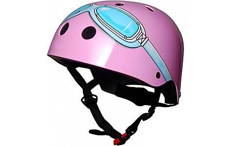 image of Kiddimoto Pink Goggle Helmet Small