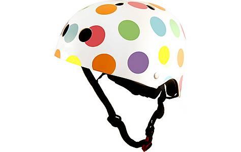 image of Kiddimoto Pastel Dotty Helmet Small