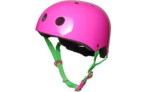 image of Kiddimoto Neon Pink Helmet Small