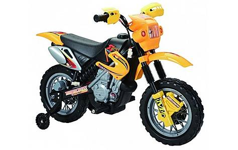 image of 6v Kids Dirt Bike Style Ride On, Yellow