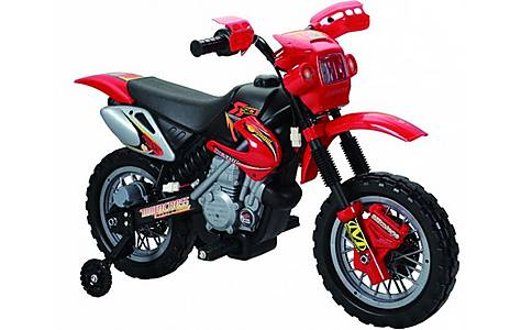 image of 6v Kids Dirt Bike Style Ride On, Red