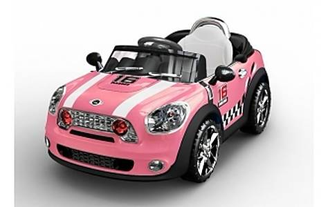 image of 6v Mini Style Ride On Car, Pink