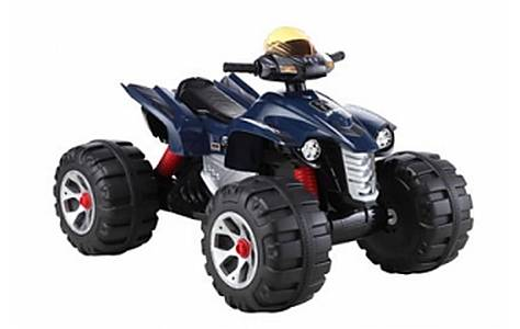 image of 6v Interceptor Quad Bike Ride On, Blue
