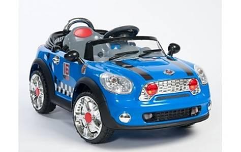 image of 6v Mini Style Ride On Car, Blue