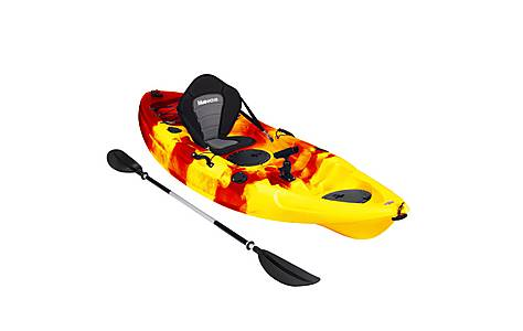image of Bluewave Sit On Top Single Kayak, Red And Yellow