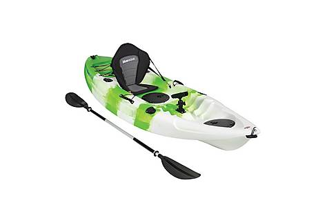 image of Bluewave Single Sit On Top Fishing Kayak, Green And White