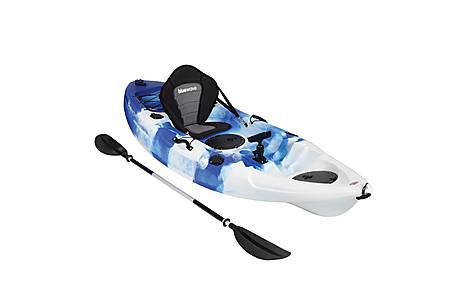image of Bluewave Single Sit On Top Fishing Kayak, Blue And White