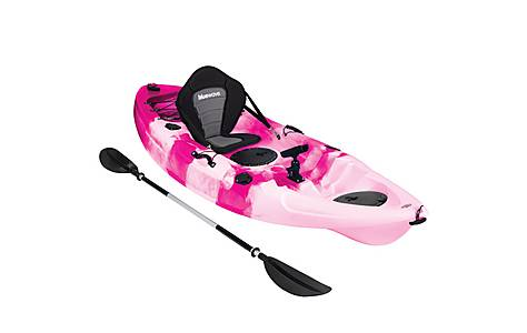 image of Bluewave Single Sit On Top Fishing Kayak, Pink And White