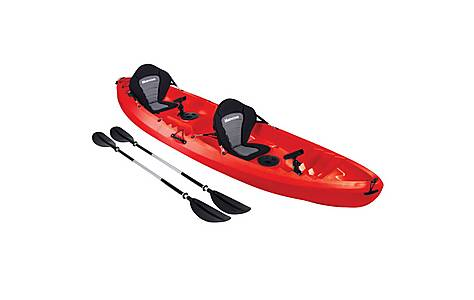image of Bluewave Double Sit On Top Fishing Kayak, Red