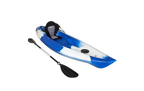 image of Bluewave Sit On Top Single Touring Kayak, Blue And White